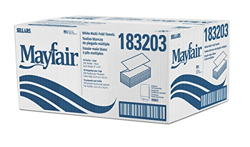 Amazon.com: Multifold Paper Towel (White) 250 Towels Per Pack - 16 Packs: Health & Personal Care