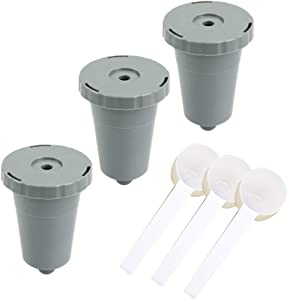 Anbige Reusable K Cups For Keurig 1.0 Brewers Universal Fit For B30 B40 B50 B60 B70 Series, Refillable Single Cup Coffee Filters, Eco Friendly Stainless Steel Mesh Filter