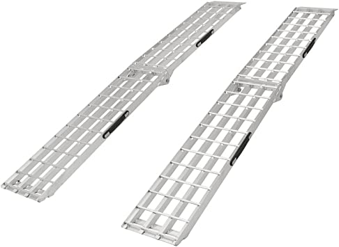 Aluminum Folding Ramps >> Black Widow Sf 9012 2a 90 Aluminum Folding Loading Ramps For Garden Equipment Lawn Tractors And Atv