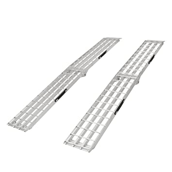 Aluminum Folding Ramps >> Rage Powersports 90 Aluminum Folding Loading Ramps For Garden Equipment Lawn Tractors And Atv