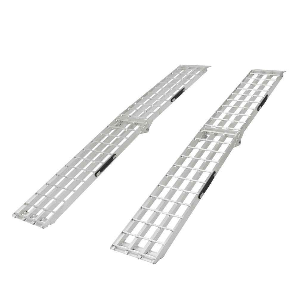 Black Widow SF-9012-2A 90' Aluminum Folding Loading Ramps for Garden Equipment, Lawn Tractors and ATV
