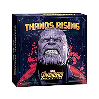 USAOPOLY Thanos Rising: Avengers Infinity War Cooperative Dice and Card Game   Marvel Avengers Endgame and Avengers Infinity War Movies   Collectible Thanos Figure Included (DC011-543-001800-03)