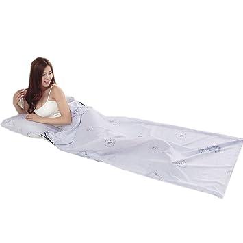 Dewuseller 210 x 70 cm Sábanas para Sacos de Dormir,Ultra Ligero, Termico e