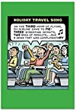 B2464XSG Box Set of 12 Box Of Holiday Travel Song Christmas Cards Humor Christmas Greeting Cards; with Envelopes