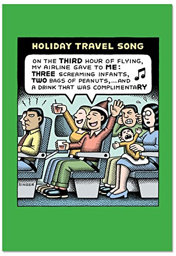 B2464XSG Box Set of 12 Box Of Holiday Travel Song Christmas Cards Humor Christmas Greeting Cards; with Envelopes by NobleWorks