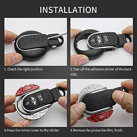 YaaGoo Pour Mini F54 F55 F56 F57 F58 F59 F60 Accessoires /él/égants pour voiture /Étui de porte-cl/és Noir
