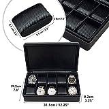 10 Watch Briefcase Black Carbon Fiber Zippered