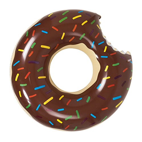 Amhdeal Inc 47 Giant Inflatable Donut Pool Float Raft Swimming Tube Ring for Adults kids - Chocolate