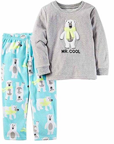Carter's Boy's 2-Piece Fleece Pajama Sets (5, Mr. Cool Polar Bear)