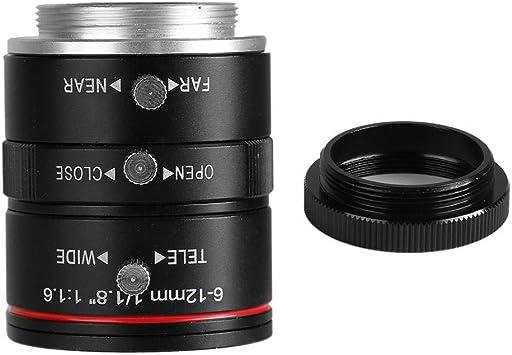 Lente de cámara CCTV, 6-12 mm-1/1.8in-3MP Apertura manual C-Mount ...