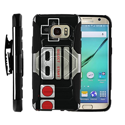 Case for Samsung Galaxy S7 Edge  [ Armor Reloaded ] Rugged Armor Impact Hard Rubber Durable Unique Creative Cover + Belt Clip , by Miniturtle – Game Controller