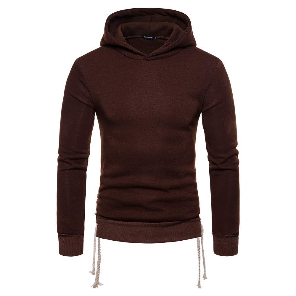 Men Pure Color Long Sleeve Round Bottom Raglan Hoodie Henley T-Shirts Slim Fit Hoodies