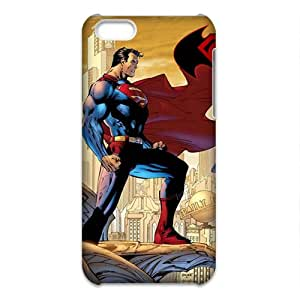 iPhone 5C(3d) Case [Lightweight] Personalize Rugged Protective Durable Case for iPhone 5C(3d) Smartphone [Non-Slip] Shock Absorbing and Scratch Resistant - Super Men VS Batmen