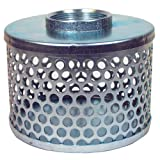 Apache 70000504 Round Hole Suction Strainers, Plated Steel, 2''