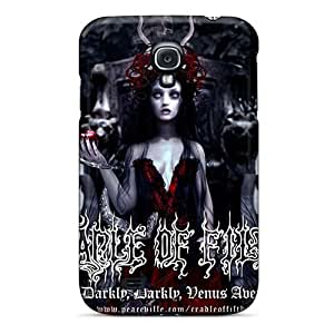 Shock Absorbent Hard Cell-phone Case For Samsung Galaxy S4 (QDU7490xyqF) Custom Colorful Cradle Of Filth Band Pattern