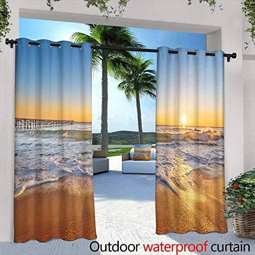 Lightly Indoor/Outdoor Single Panel Print Window Curtain,Sugar Cane Plantation Khanh HOA Province Vietnam,W108 x L84 Outdoor Curtain for Patio,Outdoor Patio Curtains