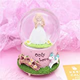 Weekendy Baby Funny Toy Home Decoration Ornaments Crystal Ball Snowflack Music Box Praying