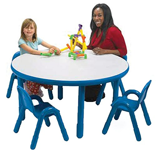 Angeles BaseLine Preschool Round Table & Chair Set Royal Blue - Baseline Chair Angeles