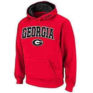 Mens NCAA Georgia Bulldogs Pull-over Hoodie (Team Color) - M