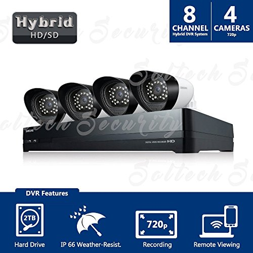 Price comparison product image Samsung SDH-P4040 8 Channel 720p HDTV Hybrid DVR Security System