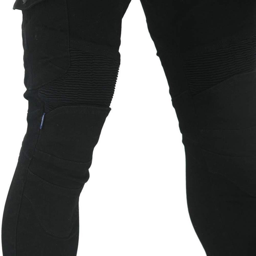 GELing Dise/ñador Hombres Motocicleta Armadura Textil Pantalones,Verde,XL