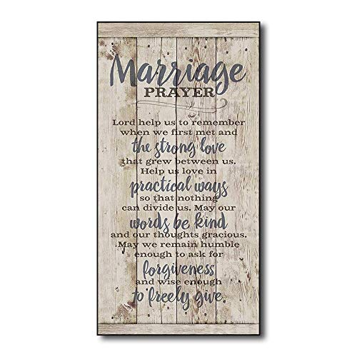 AMELIA SHARPE New Winston Porter 'Marriage Prayer Wood Plank Plaque Sign 12 x 8 from AMELIA SHARPE