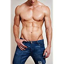 Man of Muscle Hot Guy in Jeans Photo Art Print Poster 12x18