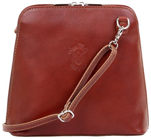 Bag Mid Italian a Bag Smooth Small Handbag Cross Sacchi® Primo Brown Storage Body Leather Shoulder Includes Branded 81wxg5Z