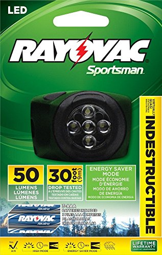 Rayovac OTHL3AAA BA Virtually Indestructible Headlight