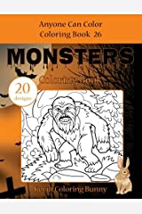 Monsters Coloring Book: 20 designs (Anyone Can Color Coloring Book) (Volume 26) Paperback