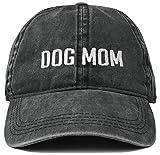 H-214-DM06-BL Dad Hat Baseball Cap: Dog Mom, Black (Block Letters)