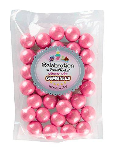 Shimmer (TM) Hot Pink Gumballs (1) 14 Ounce Bag