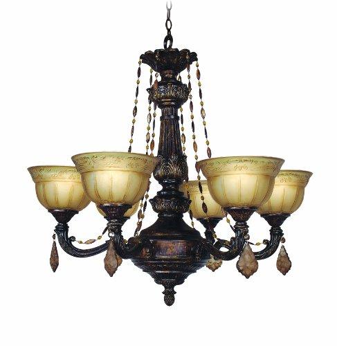 Woodbridge Lighting 12151-OWB 6-Light Lucerne Chandelier, 28 x 28.25 , Old World Bronze