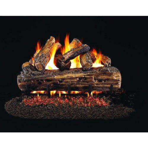 - Peterson Real Fyre 18-inch Split Oak Designer Plus Gas Log Set With Vented Natural Gas G4 Burner