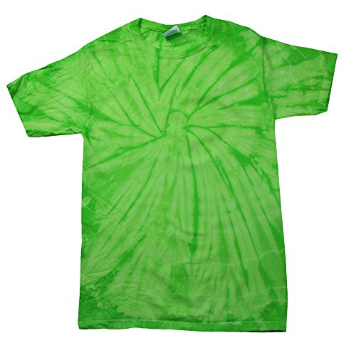 Green Lime Tie Dye Toddler Tee 2T, 3T, 4T 100% Pre-Shrunk Cotton Short Sleeve (4T)