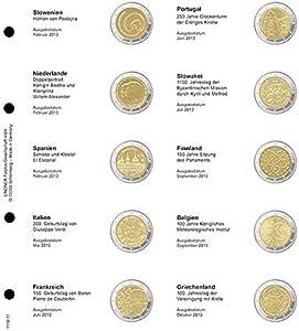 Lindner 1118-11 Página ilustrada para monedas conmemorativas de 2 EURO, cronológicos: de Eslovenia 2013: Amazon.es: Juguetes y juegos