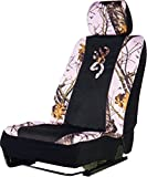 camouflage seat covers for trucks - Browning Low-Back Seat Cover (Mossy Oak Pink Break-Up Camouflage, Sold Individually)