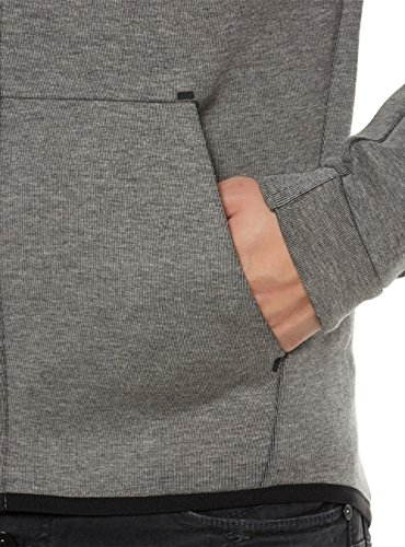 Nike M Nsw Tch Flc Wr Hoodie Fz Sudadera, Hombre Gris (Carbon Heather / Black)