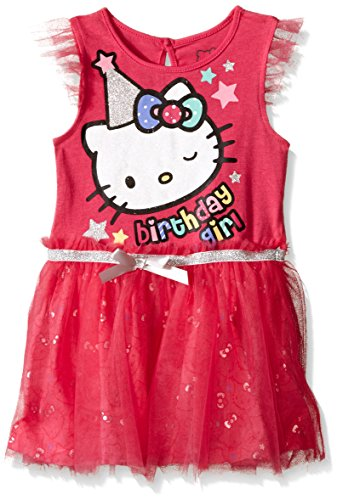 Hello Kitty Birthday - Hello Kitty Little Girls' Toddler Tutu Dress, Fuchsia Birthday, 2T