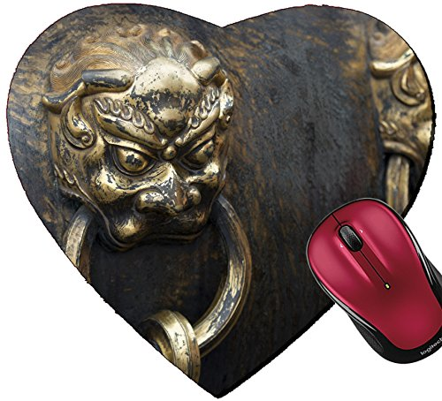 Liili Mousepad Heart Shaped Mouse Pads/Mat Detail of a decorative urn at Forbidden City Xicheng District Beijing China 28221812 - Urn Shaped Base