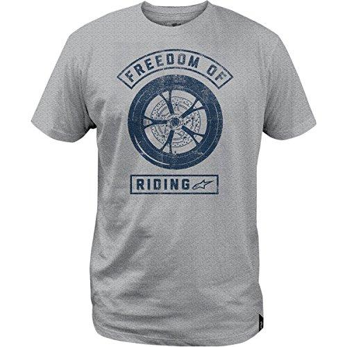 Alpinestars Quality T-shirt - ALPINESTARS Freedom Lock Up T-shirt Cotton Gray Large