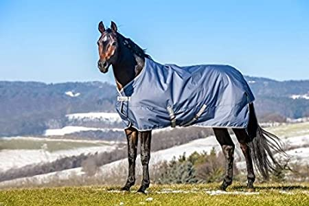 Bucas Freedom Turnout Pony Light - Navy/Silver Groesse:115