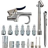 Accessory Kit, 17 Piece Compressor Inflation Kit, with Blow Gun, Air Chucks, Inflation Needles (Campbell Hausfeld MP284701AV)