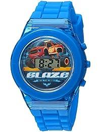 Boy's Quartz Plastic and Rubber Casual Watch, Color:Blue (Model: BLZ4021)