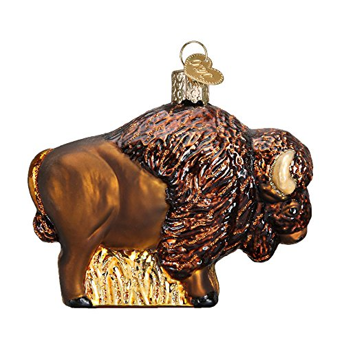 Old World Christmas Buffalo Glass Blown Ornament