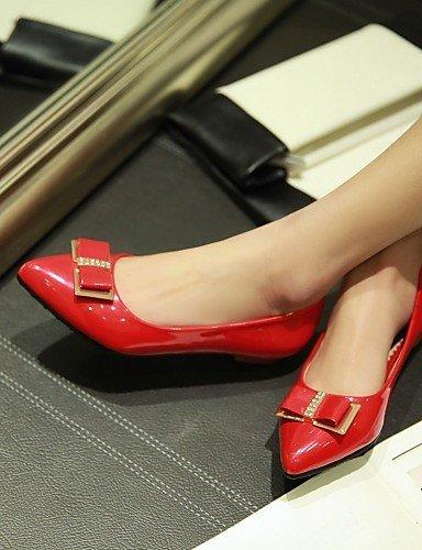 Toe plano al y Pisos azul 5 blanco carrera negro talón eu38 us7 mujer casual cn38 de rojo sintética 5 piel punta oficina uk5 PDX libre de zapatos aire black qPZz0z