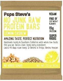 Amazon.com: Papa Steve s No Junk Raw Proteína Bares, Menta ...