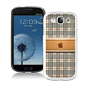 Galaxy S3 Case,Burberry 35 White Samsung Galaxy S3 I9300 Screen Phone Case Fashion and Grace Design