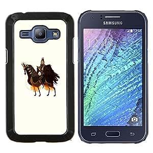 """Be-Star Único Patrón Plástico Duro Fundas Cover Cubre Hard Case Cover Para Samsung Galaxy J1 / J100 ( Caballo Caballero Guerrero Arte antiguo Rey Soberano"""" )"""