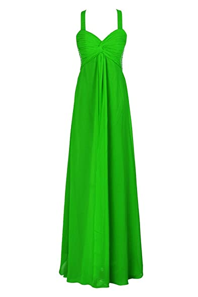 Elames Womens Sweetheart Long Bridesmaid Empire Evening Prom Dresses Green ...